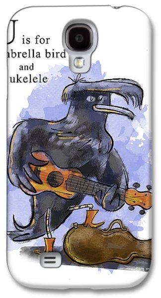 Ukelele Galaxy S4 Cases - U is for Umbrella Bird Galaxy S4 Case by Sean Hagan