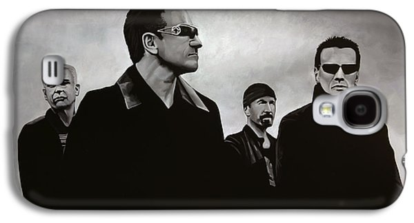 U2 Paintings Galaxy S4 Cases - U2 Galaxy S4 Case by Paul Meijering