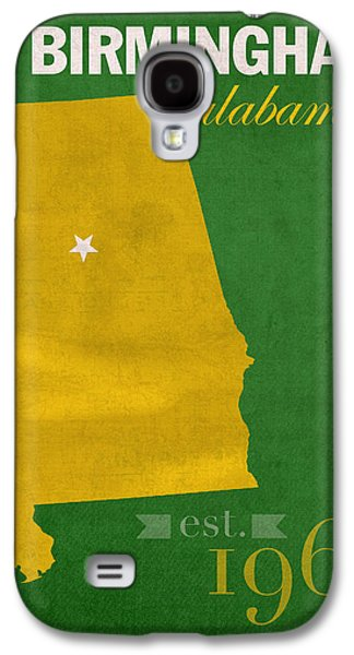 At Poster Mixed Media Galaxy S4 Cases - UAB University of Alabama at Birmingham Blazers College Town State Map Poster Series No 009  Galaxy S4 Case by Design Turnpike