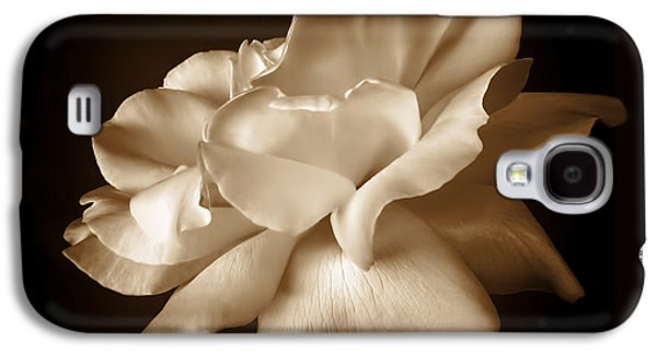 Umber Rose Floral Petals Galaxy S4 Case by Jennie Marie Schell
