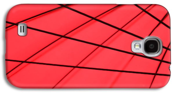 Red And Black Abstract Galaxy S4 Case by Tony Grider