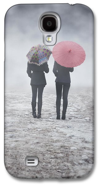Person Galaxy S4 Cases - Umbrellas In The Mist Galaxy S4 Case by Joana Kruse