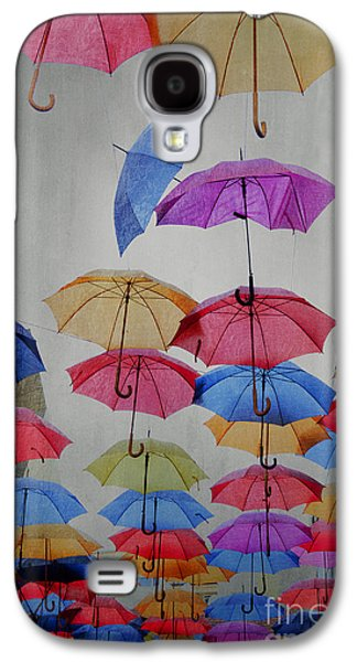 Abstract Rain Galaxy S4 Cases - Umbrellas Galaxy S4 Case by Jelena Jovanovic
