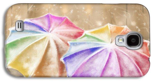 Umbrellas Digital Galaxy S4 Cases - Umbrellas Galaxy S4 Case by Veronica Minozzi