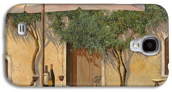 Glass Bottle Galaxy S4 Cases - Un Ombra In Cortile Galaxy S4 Case by Guido Borelli