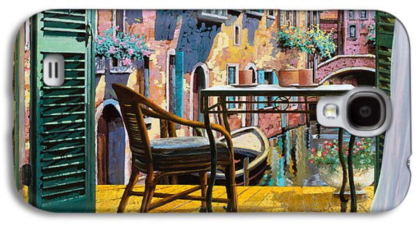 Holiday Paintings Galaxy S4 Cases - Un Soggiorno A Venezia Galaxy S4 Case by Guido Borelli