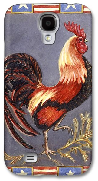 4th July Paintings Galaxy S4 Cases - Uncle Sam the Rooster Galaxy S4 Case by Linda Mears