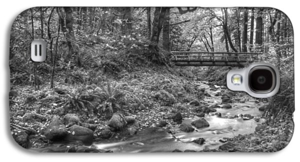 White River Scene Photographs Galaxy S4 Cases - Uncolored Galaxy S4 Case by Jean Noren