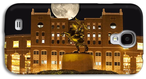 Universities Pyrography Galaxy S4 Cases - Unconquered Doak Campbell Full Moon Galaxy S4 Case by Frank Feliciano