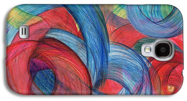 Abstract Movement Drawings Galaxy S4 Cases - Uncovered Curves Galaxy S4 Case by Kelly K H B