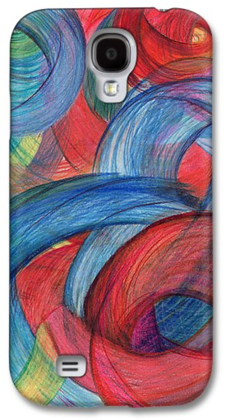 Thought Drawings Galaxy S4 Cases - Uncovered Curves-Vertical Galaxy S4 Case by Kelly K H B