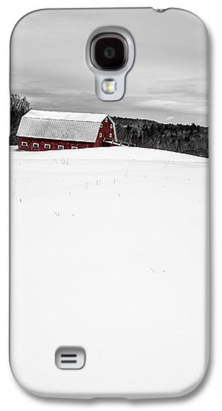 New England Snow Scene Galaxy S4 Cases - Under a blanket of snow Christmas on the farm Galaxy S4 Case by Edward Fielding