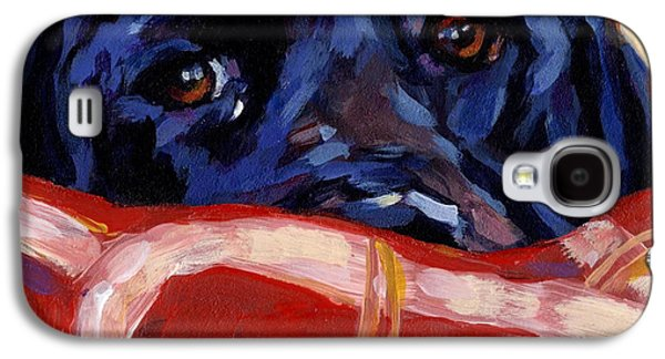 Dog Paintings Galaxy S4 Cases - Under Cover Galaxy S4 Case by Molly Poole