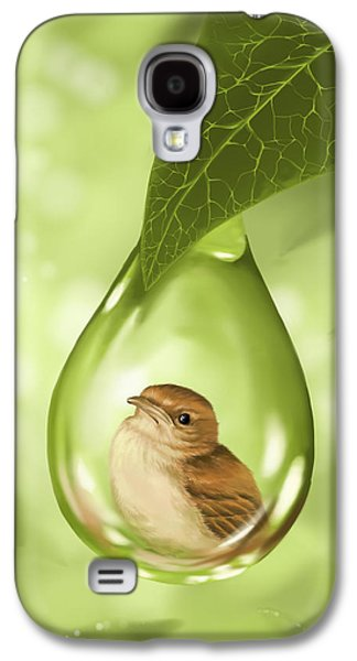 Close Up Paintings Galaxy S4 Cases - Under protection Galaxy S4 Case by Veronica Minozzi