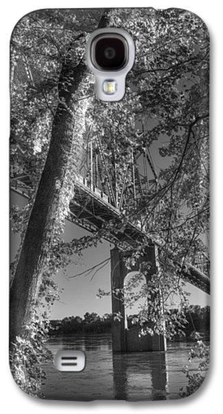 Base Path Galaxy S4 Cases - Under the Missouri River Bridge At Washington Galaxy S4 Case by William Fields