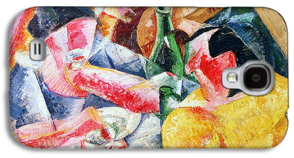 Lute Paintings Galaxy S4 Cases - Under the Pergola at Naples Galaxy S4 Case by Umberto Boccioni