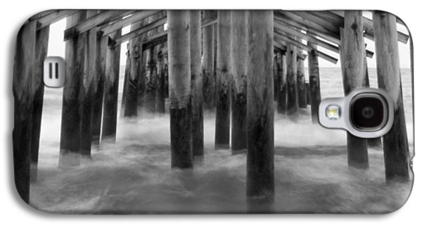 Pier Digital Galaxy S4 Cases - Under the Pier at Kure Beach Galaxy S4 Case by Mike McGlothlen