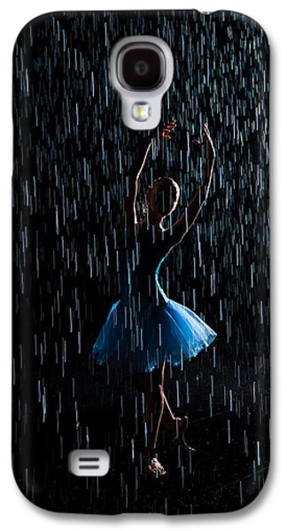 Abstract Rain Galaxy S4 Cases - Under the rain Galaxy S4 Case by Zina Zinchik