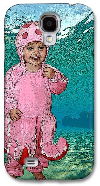 Little Girl Mixed Media Galaxy S4 Cases - Under the Sea Galaxy S4 Case by Ellen Henneke