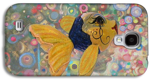 Goldfish Mixed Media Galaxy S4 Cases - Under The Sea Party Galaxy S4 Case by Sandi OReilly