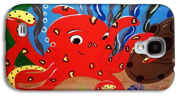 Plankton Paintings Galaxy S4 Cases - Under the Sea Galaxy S4 Case by Tami Dalton