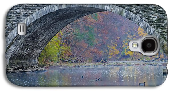Under Valley Green Bridge In Autumn Galaxy S4 Case by Bill Cannon