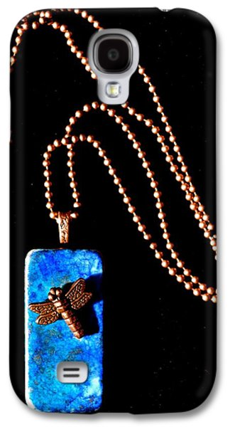 Abstract Nature Jewelry Galaxy S4 Cases - Understanding Truth Domino Pendant Galaxy S4 Case by Beverley Harper Tinsley