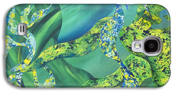Alga Paintings Galaxy S4 Cases - False Impressions of the Matisse Cut-outs Galaxy S4 Case by Sean Corcoran