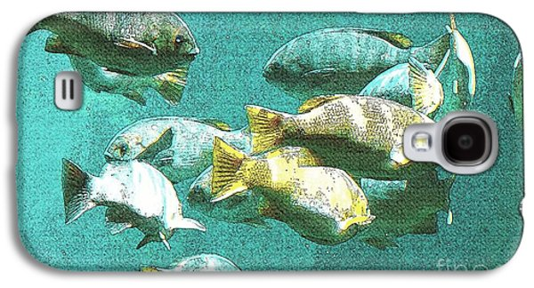 Laura Wrede Galaxy S4 Cases - Underwater Fish Swimming By Galaxy S4 Case by Artist and Photographer Laura Wrede