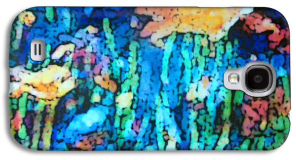 Waterscape Pastels Galaxy S4 Cases - Underwater Landscape Galaxy S4 Case by Tolere