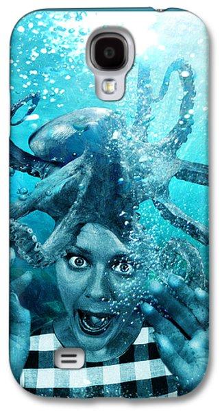 Photo Manipulation Mixed Media Galaxy S4 Cases - Underwater Nightmare Galaxy S4 Case by Marian Voicu