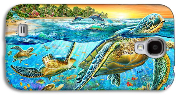 Dolphin Digital Galaxy S4 Cases - Underwater Turtles Galaxy S4 Case by Adrian Chesterman