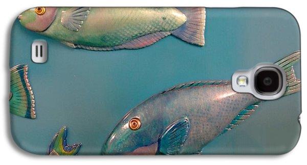 Head Reliefs Galaxy S4 Cases - Underwater Vision Parrotfish Galaxy S4 Case by Elizabeth Criss