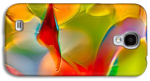 Red Abstract Glass Art Galaxy S4 Cases - Underwater Welcome Galaxy S4 Case by Omaste Witkowski