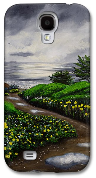 Grey Clouds Galaxy S4 Cases - Unexpected Summer Rain Galaxy S4 Case by Laura Iverson
