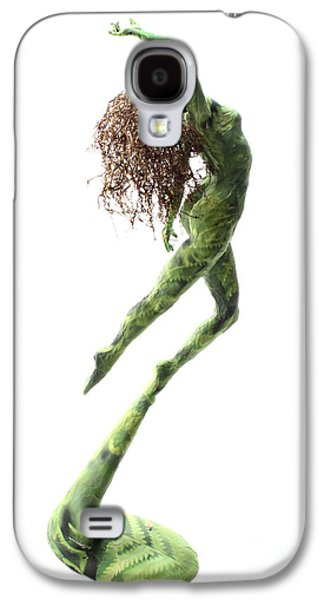 Girl Sculptures Galaxy S4 Cases - Unfurled back view Galaxy S4 Case by Adam Long