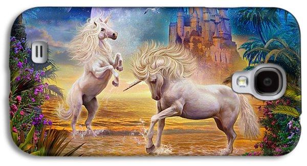 Fantasy Photographs Galaxy S4 Cases - Unicorn Beach Galaxy S4 Case by Jan Patrik Krasny