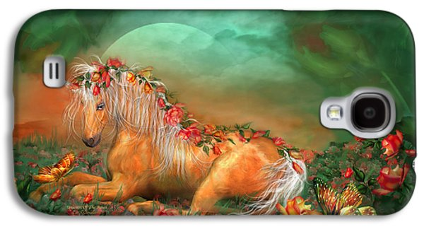 Unicorn Of The Roses Galaxy S4 Case by Carol Cavalaris