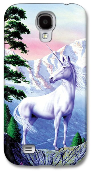 Extinct And Mythical Digital Art Galaxy S4 Cases - Unicorn the land that time forgot Galaxy S4 Case by Garry Walton