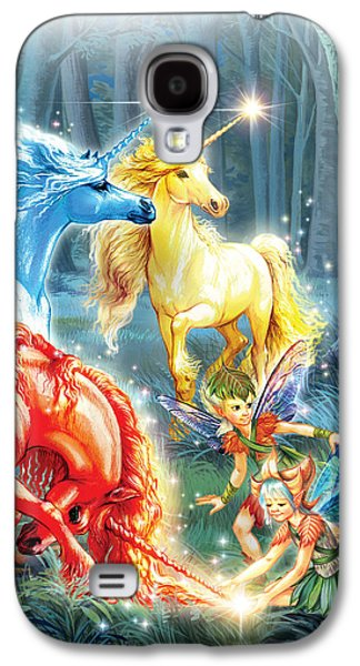 Recently Sold -  - Fantasy Photographs Galaxy S4 Cases - Unicorns and Fairies Galaxy S4 Case by Zorina Baldescu