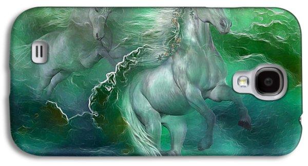 Unicorns Of The Sea Galaxy S4 Case by Carol Cavalaris