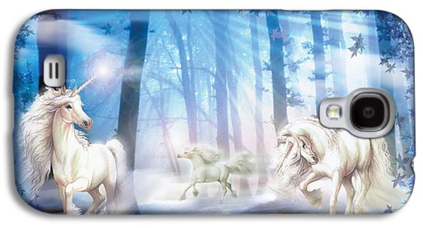 Elegance Photographs Galaxy S4 Cases - Unicorns Galaxy S4 Case by Zorina Baldescu