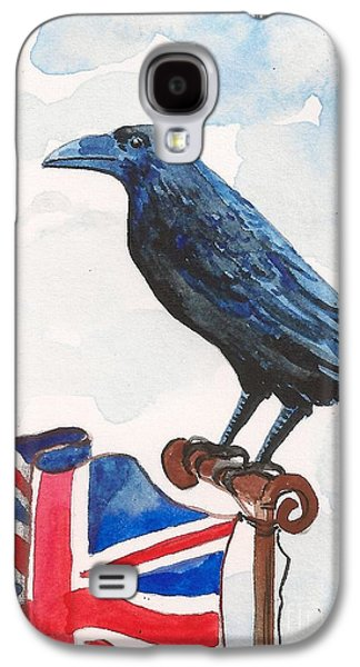 Bruce Springsteen Paintings Galaxy S4 Cases - Union Jack Galaxy S4 Case by Margaryta Yermolayeva