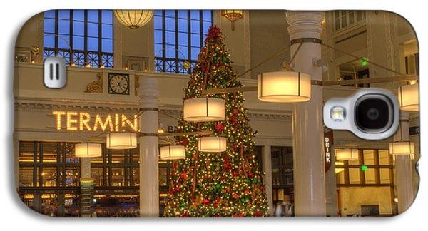 Union Station At Christmas Galaxy S4 Case by Juli Scalzi