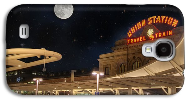 Landmarks Photographs Galaxy S4 Cases - Union Station Denver Under a Full Moon Galaxy S4 Case by Juli Scalzi