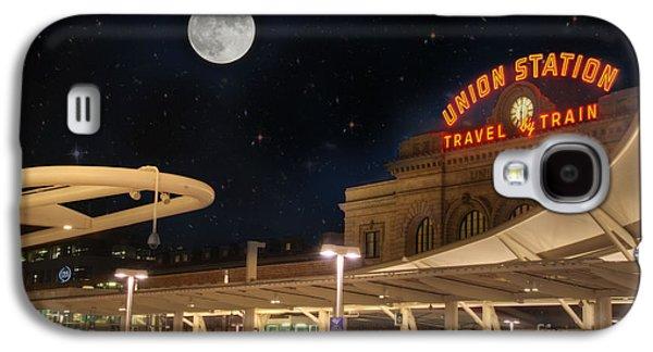 Union Station Denver Under A Full Moon Galaxy S4 Case by Juli Scalzi