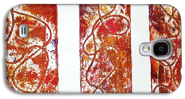 Colorful Abstract Reliefs Galaxy S4 Cases - Unique Abstract Galaxy S4 Case by Yael VanGruber