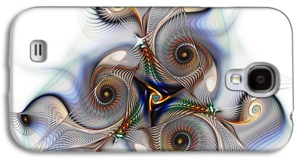 Mathematical Design Galaxy S4 Cases - Unison Fractal Art Galaxy S4 Case by Karin Kuhlmann