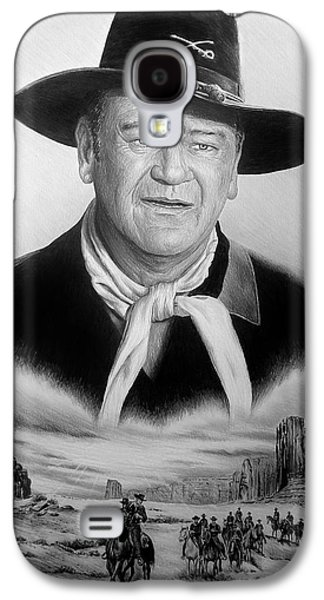 John Wayne Drawings Galaxy S4 Cases - United States Cavalry bw Galaxy S4 Case by Andrew Read