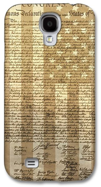 Republican Mixed Media Galaxy S4 Cases - United States Declaration Of Independence Galaxy S4 Case by Dan Sproul